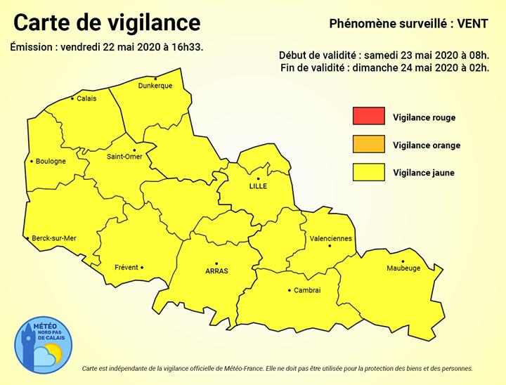 Carte de vigilance